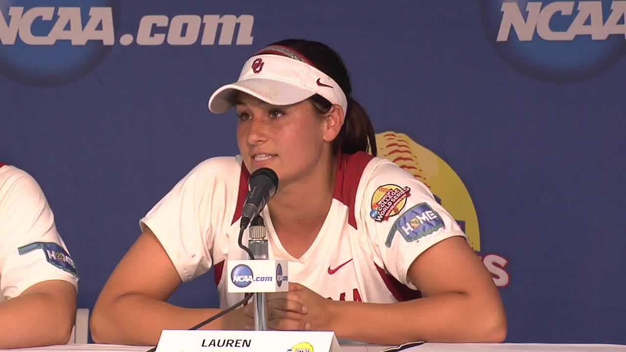 2014 NCAA WCWS Game 8 - Oklahoma Press Conference 5/31/14