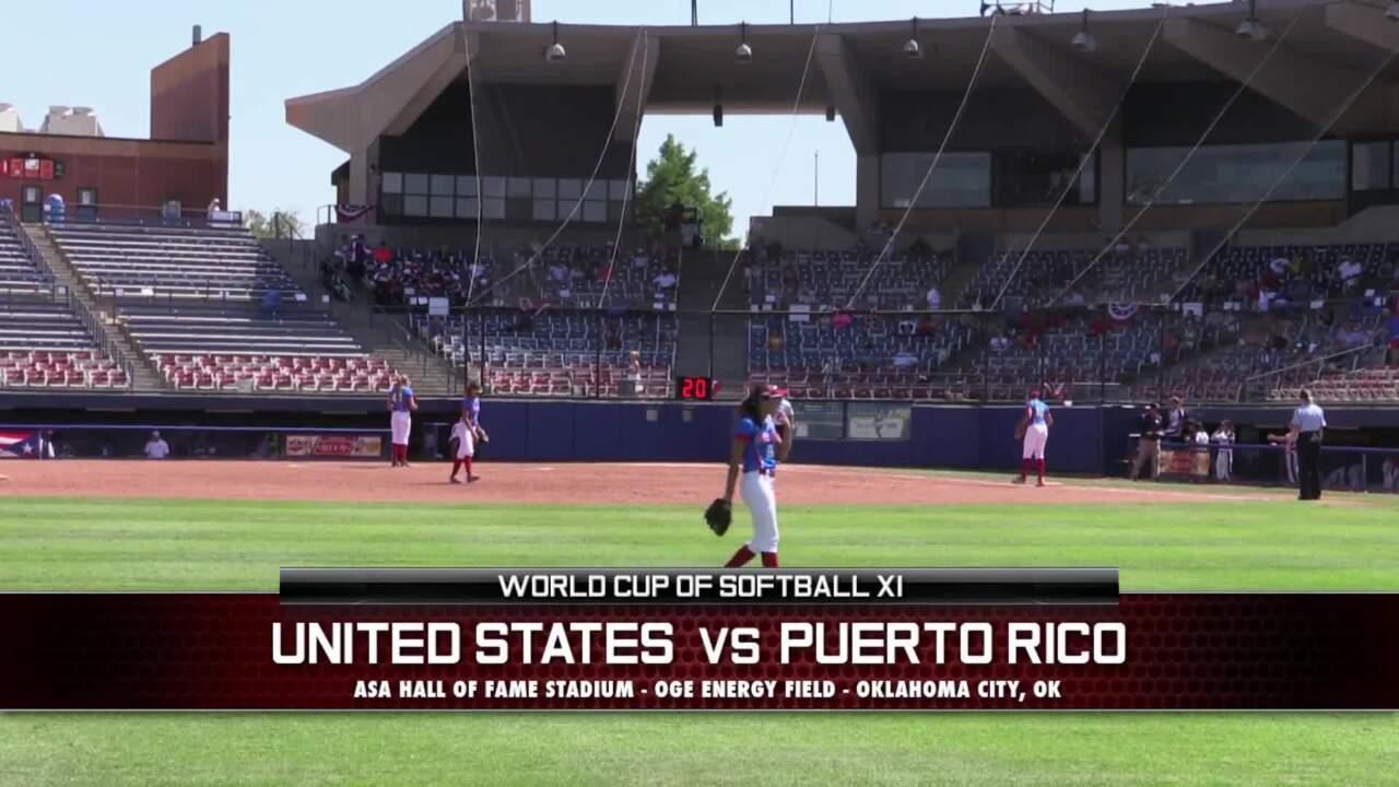 World Cup of Softball XI - USA vs Puerto Rico