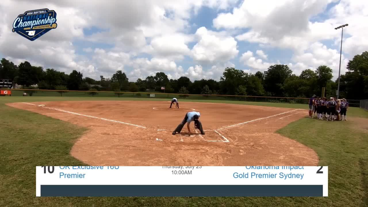 16 GOLD | July 23 | 12 pm Field 12 | OK Athletics Premier Madden vs Aces Fastpitch