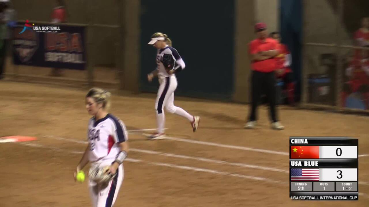 USA Softball International Cup Bronze Medal Game - USA Blue vs China
