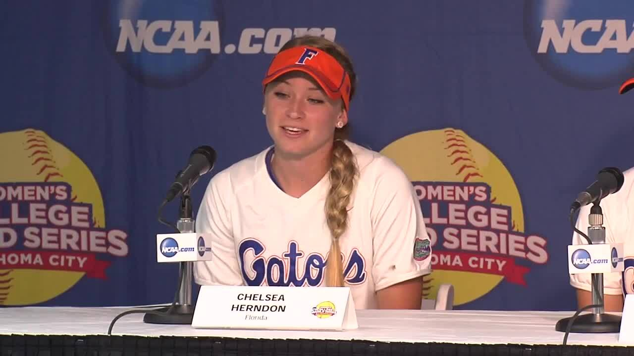 2014 NCAA WCWS Game 1 - Florida Press Conference 5/29/14