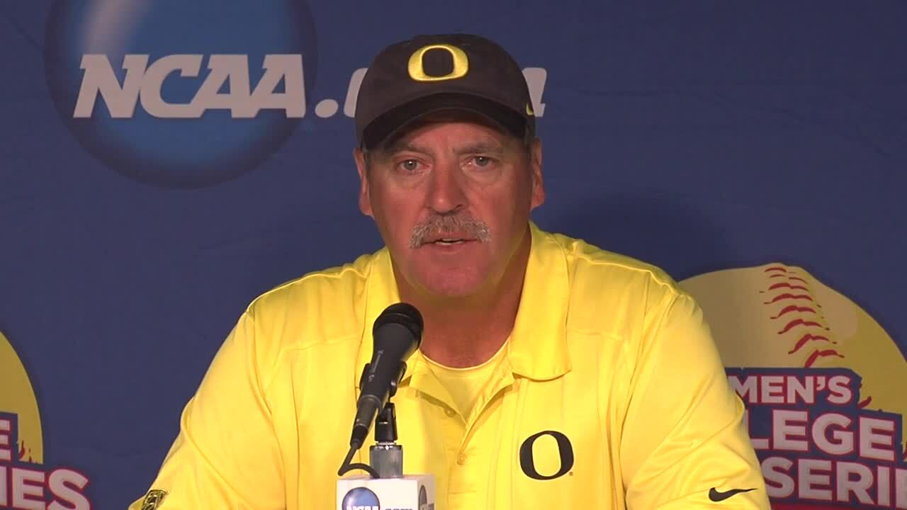 2014 NCAA WCWS Game 10 - Oregon Press Conference 5/31/14