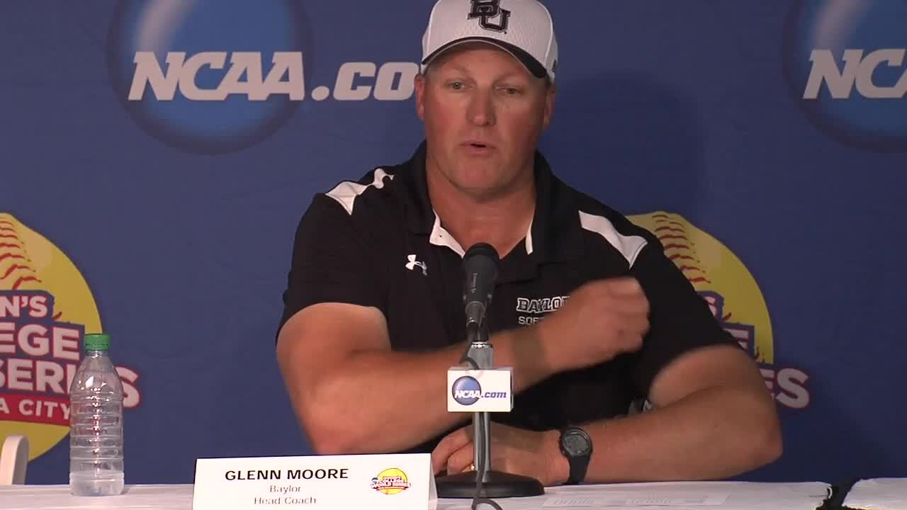2014 NCAA WCWS Game 1 - Baylor Press Conference  5/29/14