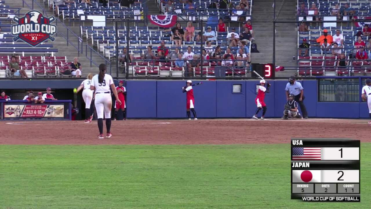 World Cup of Softball XI: USA vs Japan - Gold Medal Game Part 2