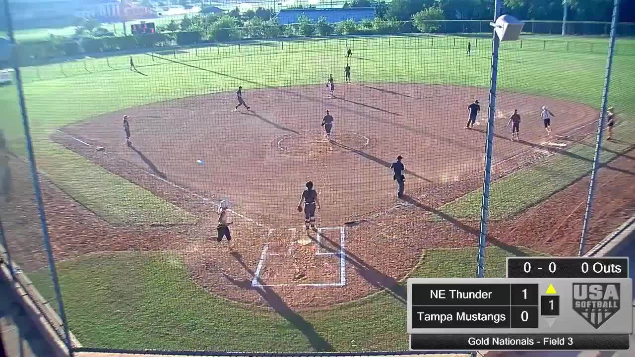 18 GOLD | July 24 | 6 pm Field 3 | NE Thunder vs Tampa Mustangs Real
