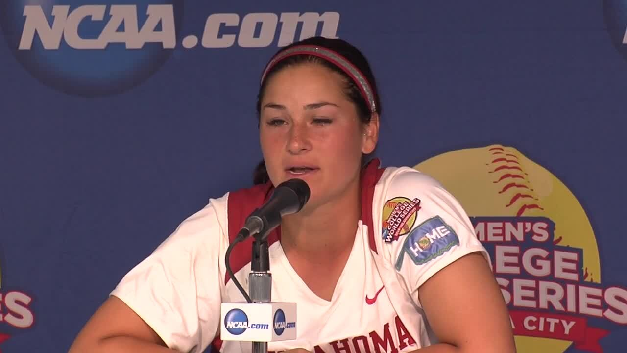 2014 NCAA WCWS Game 10 - Oklahoma Press Conference 5/31/14