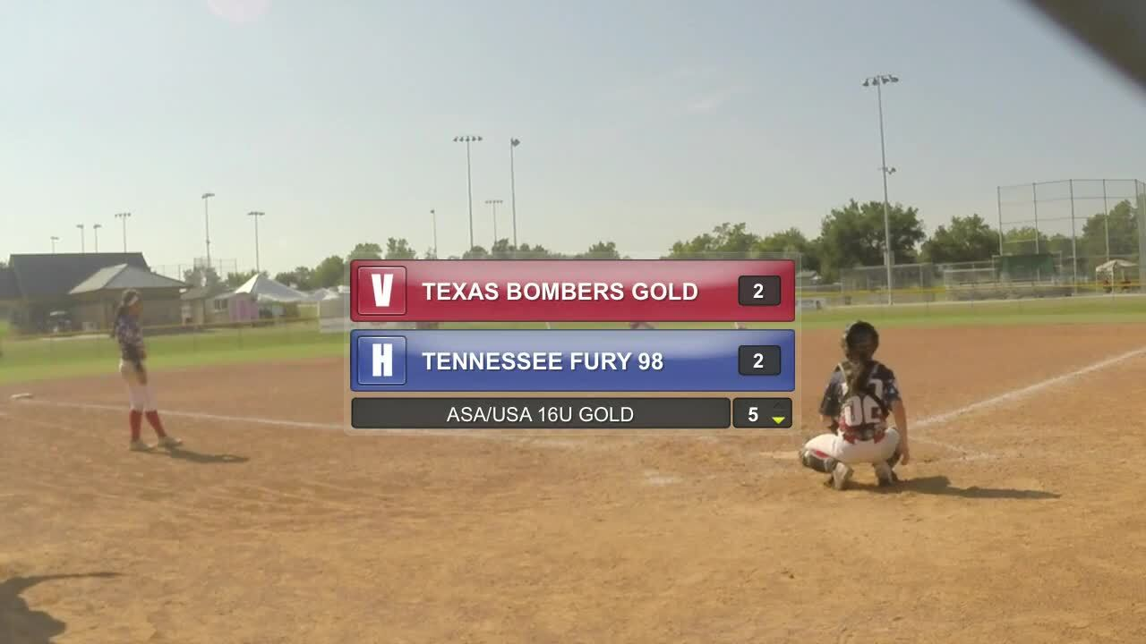 ASA/USA 16U GOLD - TX Bombers GOLD vs TN Fury 98