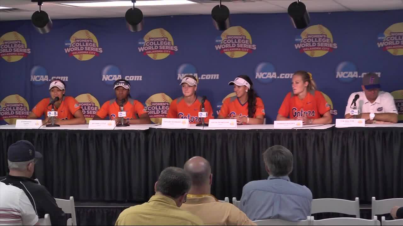 2014 NCAA WCWS Game 11 - Florida Press Conference 6/1/14