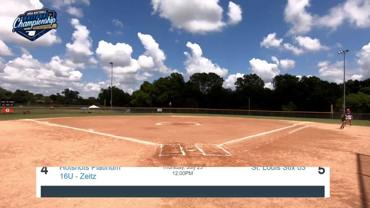 16 GOLD | July 23 | 2 pm Field 2 | Jersey Intensity vs Hotshots Zeitz