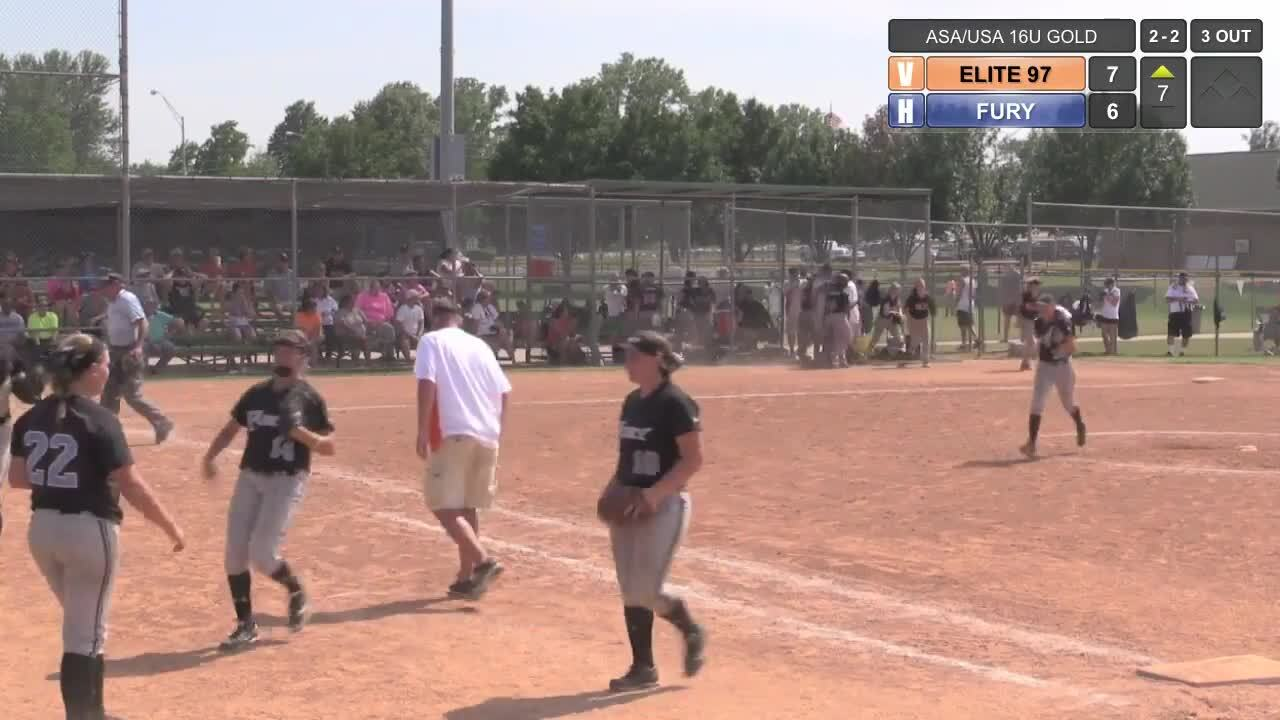 ASA/USA 16U GOLD - Tulsa Elite vs TN Fury 97 If-Necessary