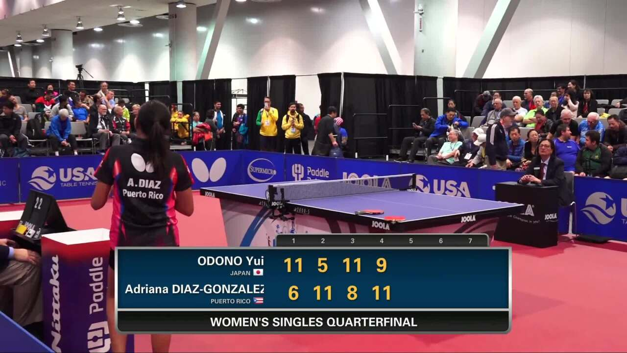 2016 US Open - Adriana Diaz vs. Yui Odono (Women's QF)