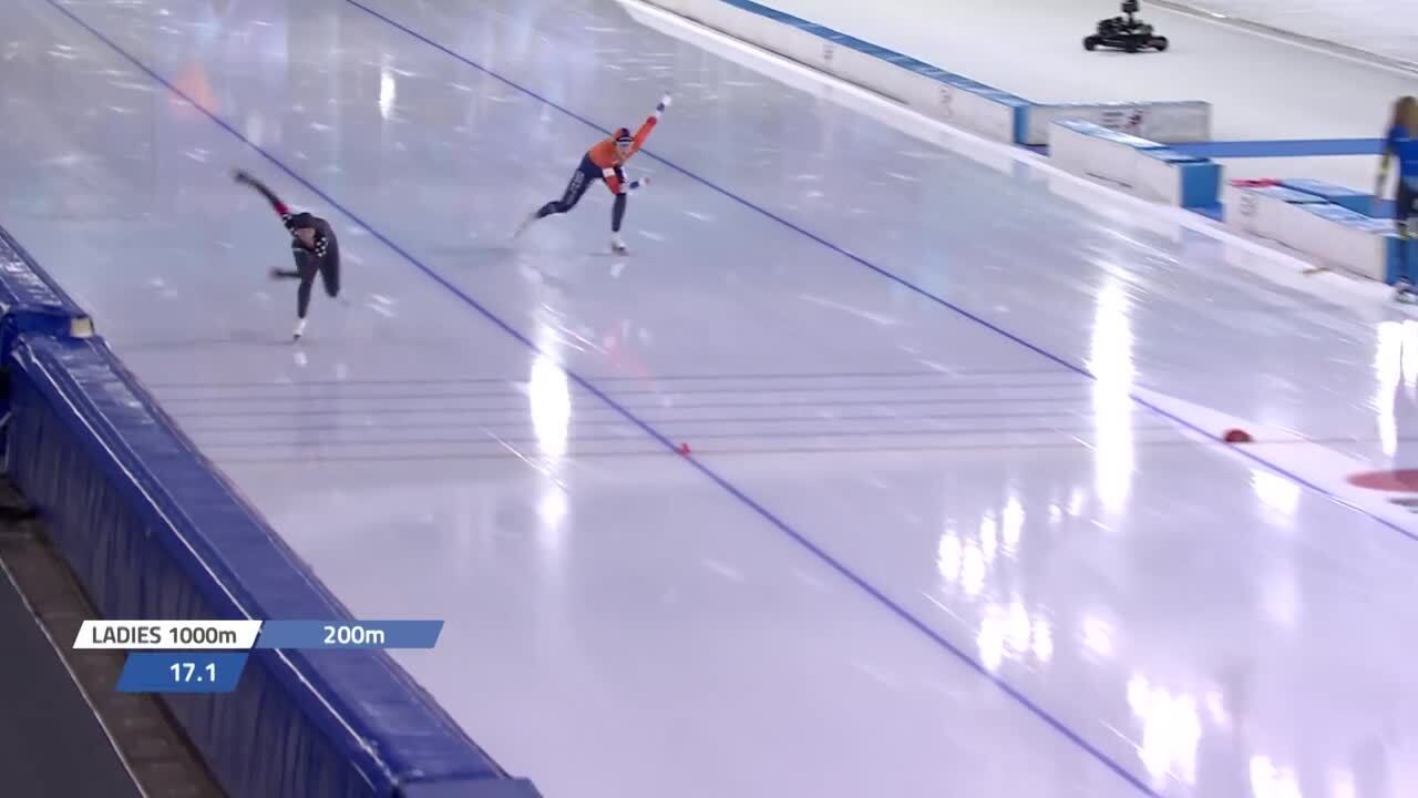 Brittany Bowe 1000m GOLD WC2