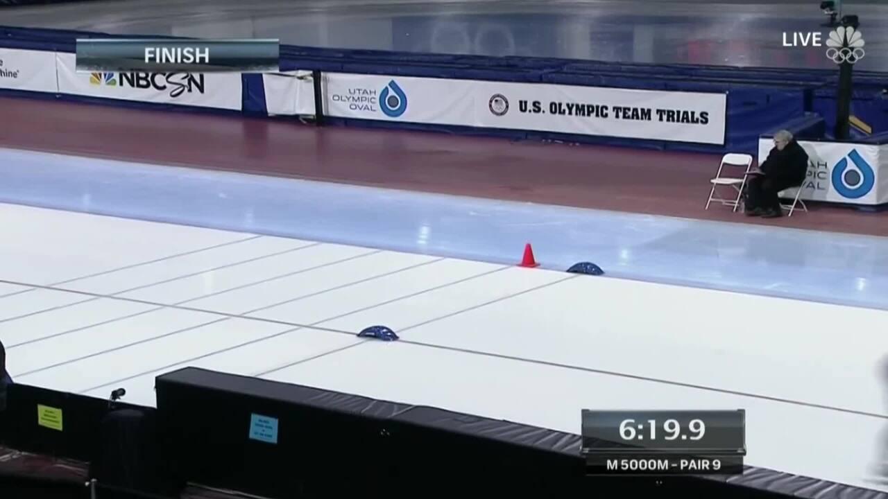 Jonathan Kuck Wins The Men's 5000M | 2014 U.S. Olympic Trials Speed Skating