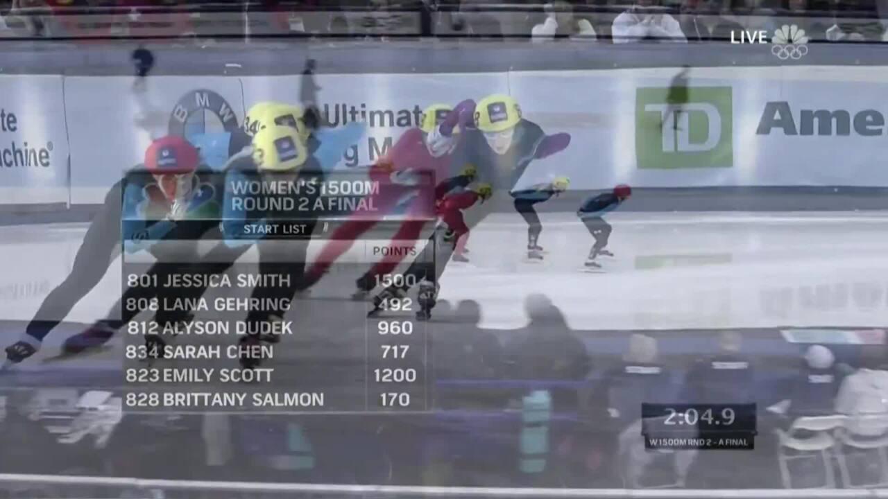 Jessica Smith Wins The 1,500m | U.S. Olympic Trials Short Track Speedskating