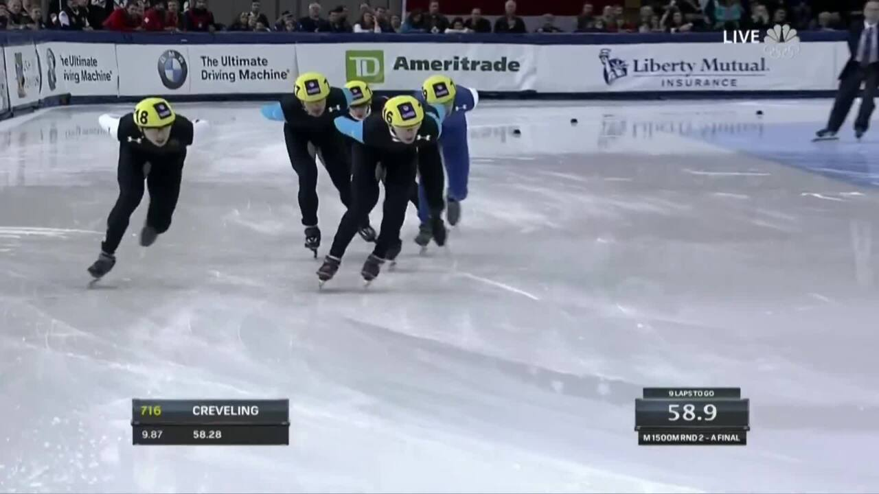 J.R. Celski Cruises To Victory In The 1,500m | U.S. Olympic Trials Short Track Speedskating