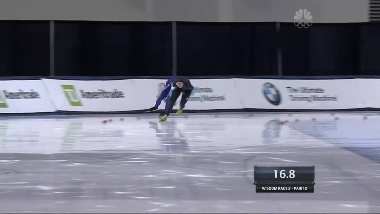 Richardson And Bowe Go One-Two In The 500m | 2014 U.S. Olympic Trials Speed Skating