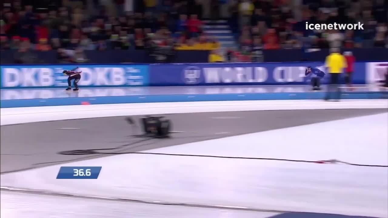 Brittany Bowe 1000m Bronze World Cup Heerenveen