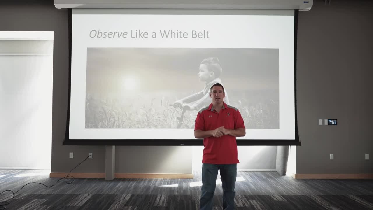 Dr. Galli - Wearing your White Belt