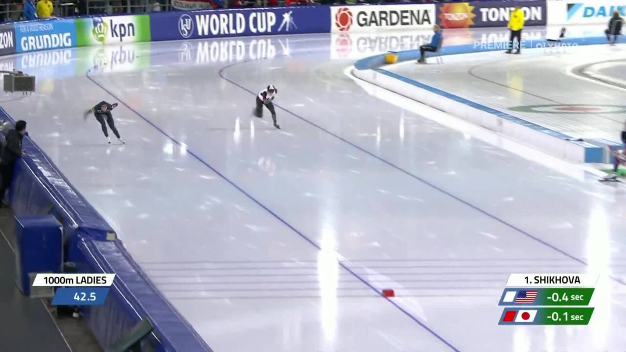 Brittany Bowe's gold medal 1000m event in Heerenveen (WC4)