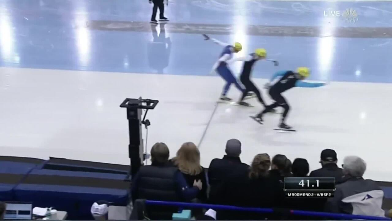 J.R. Celski Continues His Dominance Winning The 500m | U.S. Olympic Trials Short Track Speedskating