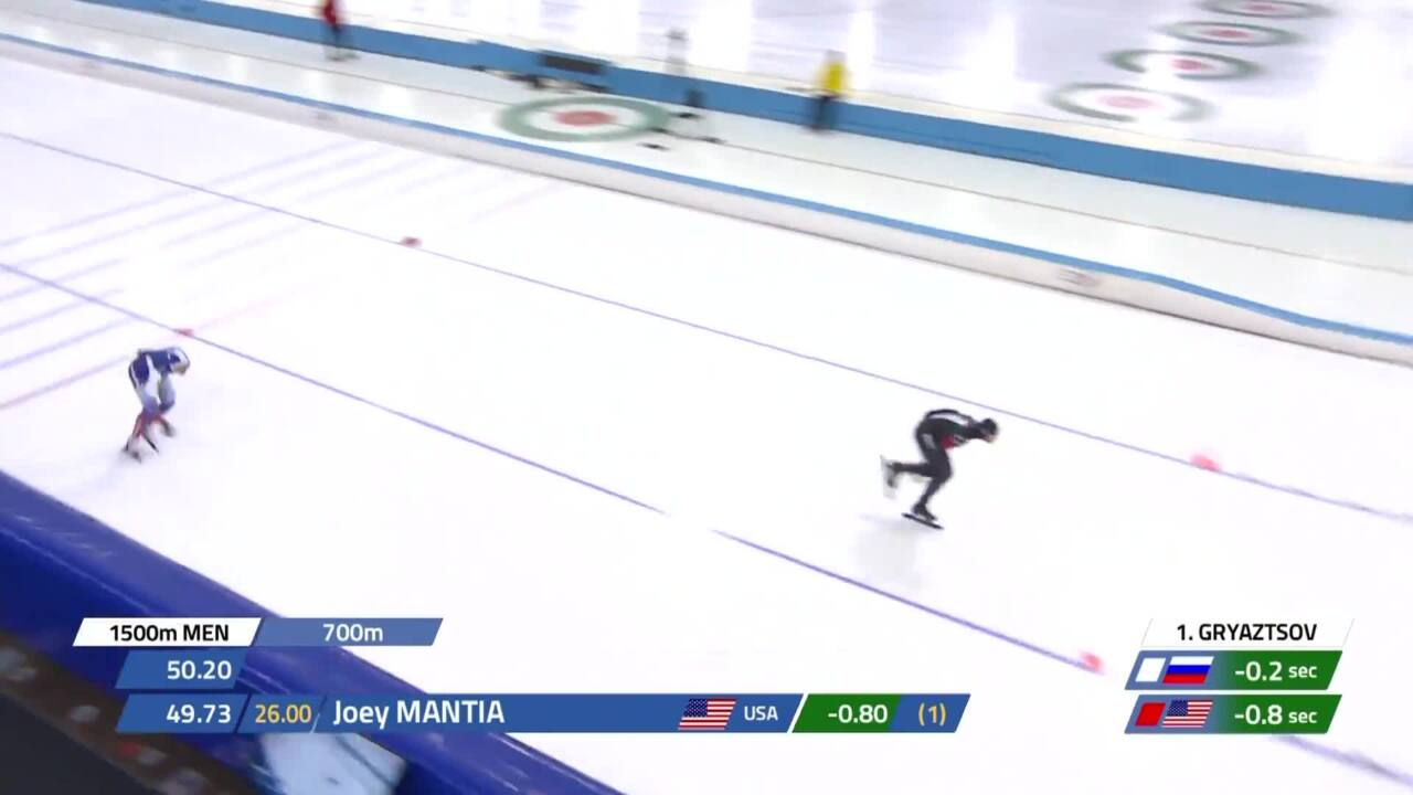 Joey Mantia wins silver in the 1500m in Heerenveen