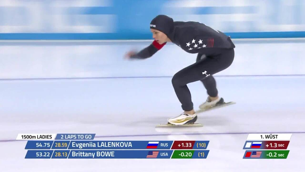 Brittany Bowe wins 1500m silver in WC4