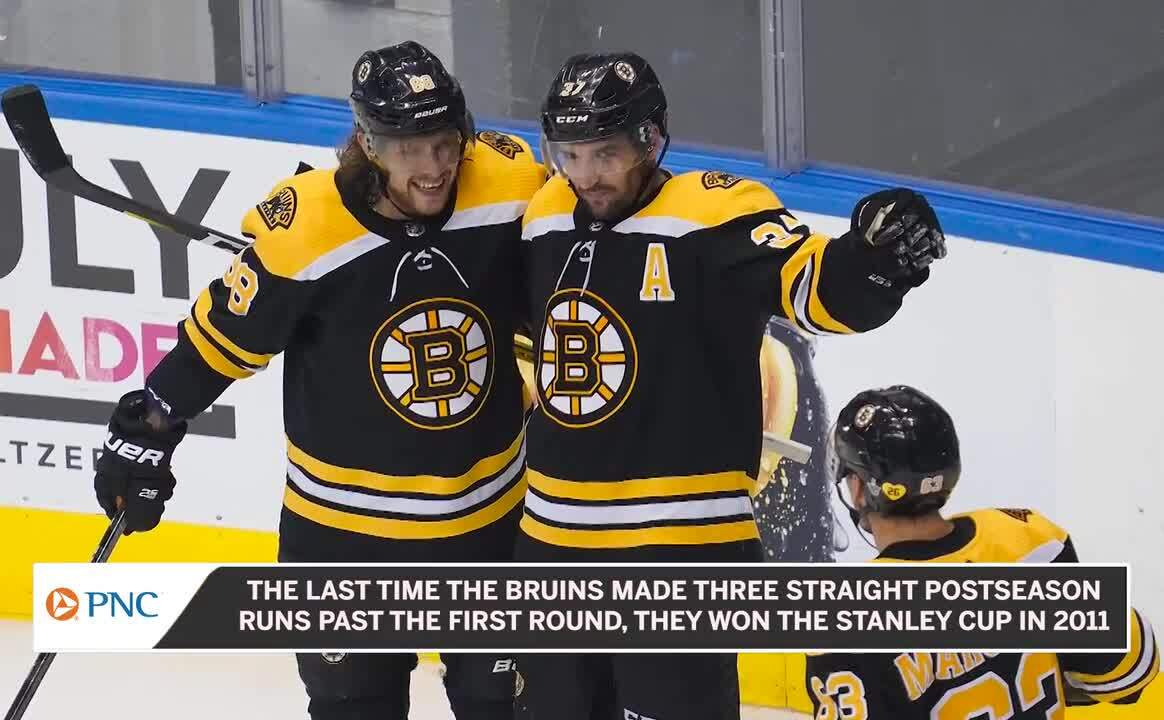 Torey Krug Tyler Johnson Drop Gloves After Lightning S Fifth Goal In Game 3 Nesn Com