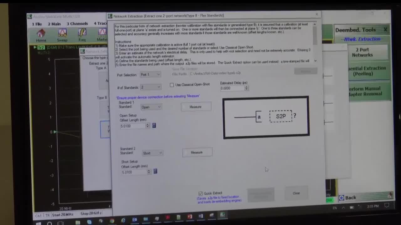 ShockLine UFX Option 24, Type-B Apparatus to De-Embed Fixture