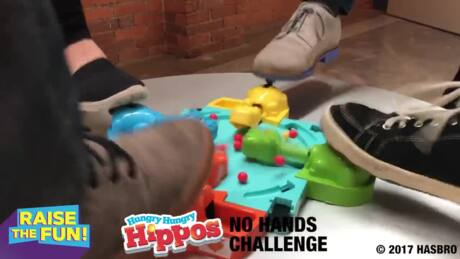 New Ideas for Gaming! Hungy Hungy Hippos + no hands