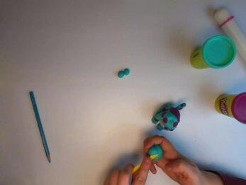 PLAY-DOH - Tuto modeler un chiot stop-motion