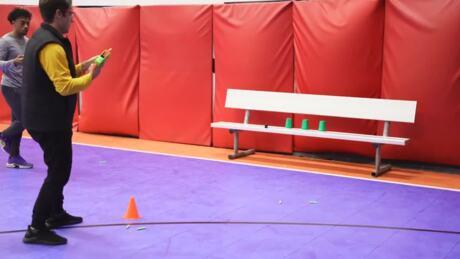 NERF: WHEEL DECIDES Trick Shot Challenge  Ft. Josh Horton