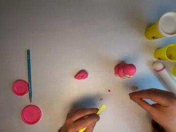 PLAY-DOH - Tuto modeler un lapin de Paques stop-motion