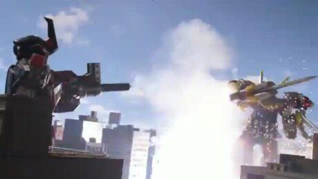 Power Rangers Beast Morphers - Magazord ile Çarpışma Sahneleri