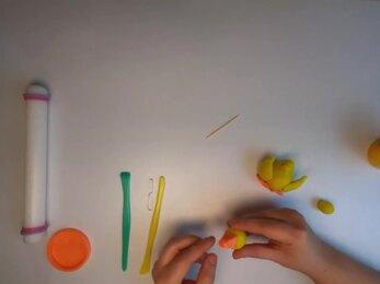 PLAY-DOH - Tuto modeler un canard stop-motion