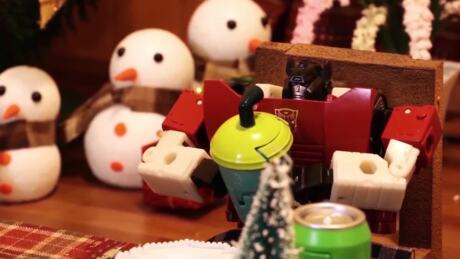 Transformers Holiday Food Fight! Stop Motion Part 2- BotBots Mischief!