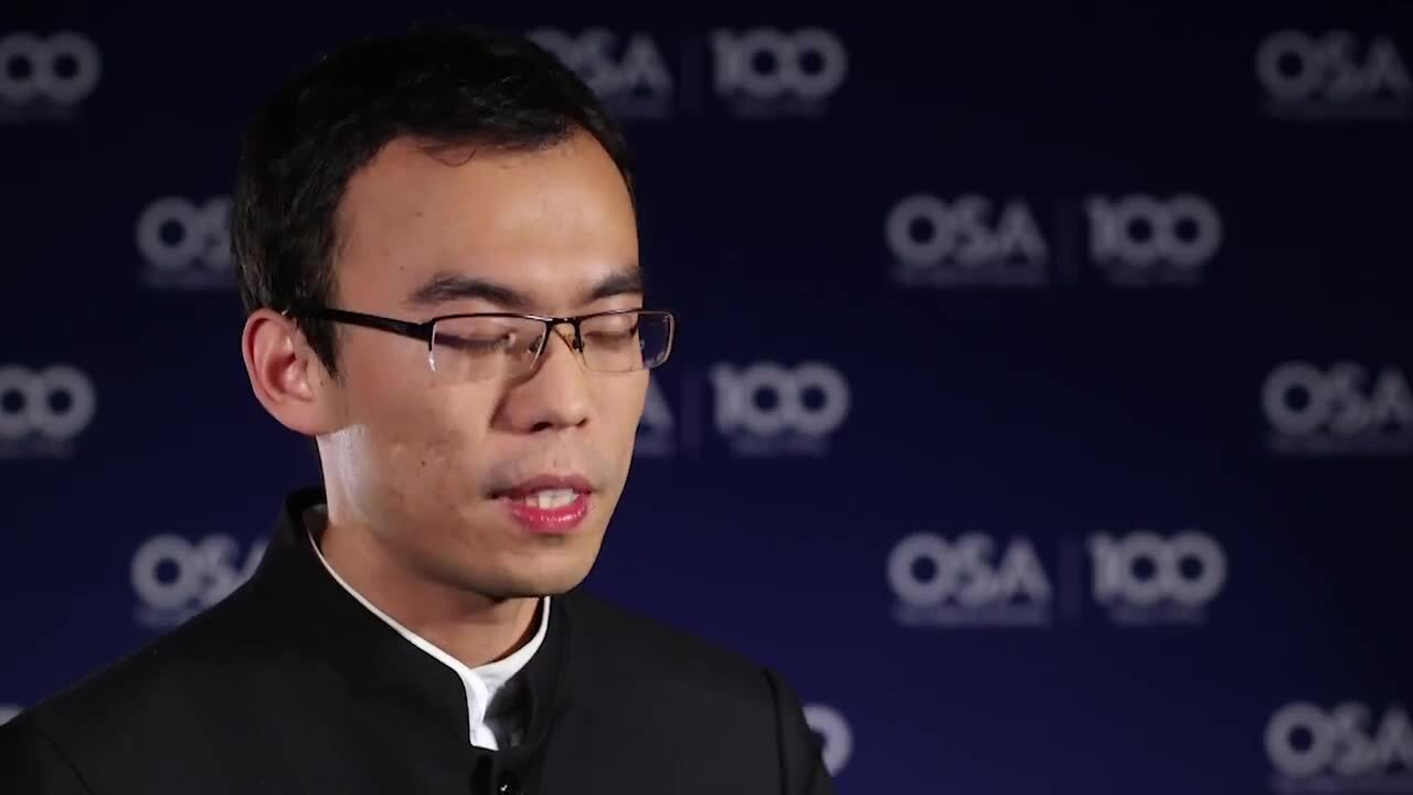Yijie Shen discusses what excites him most about his research--OSA Stories