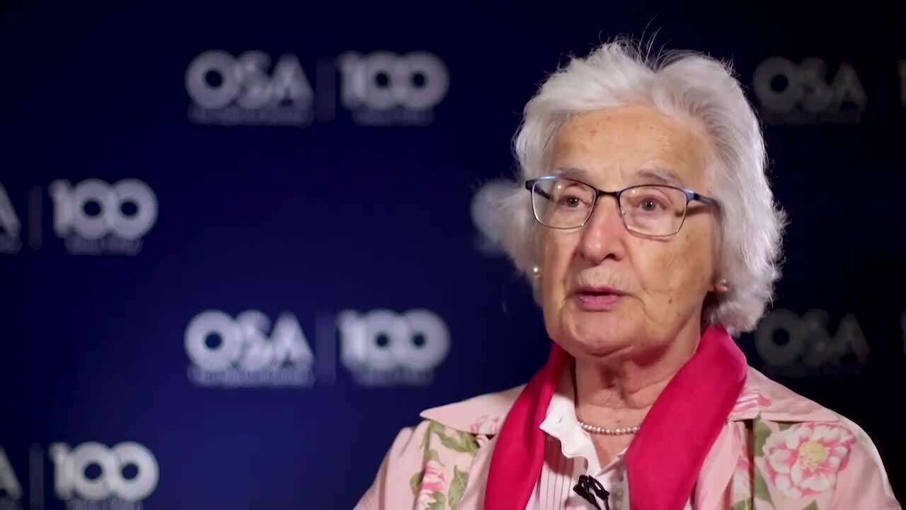Anna Consortini talks about the changes she has seen in optics--OSA Stories
