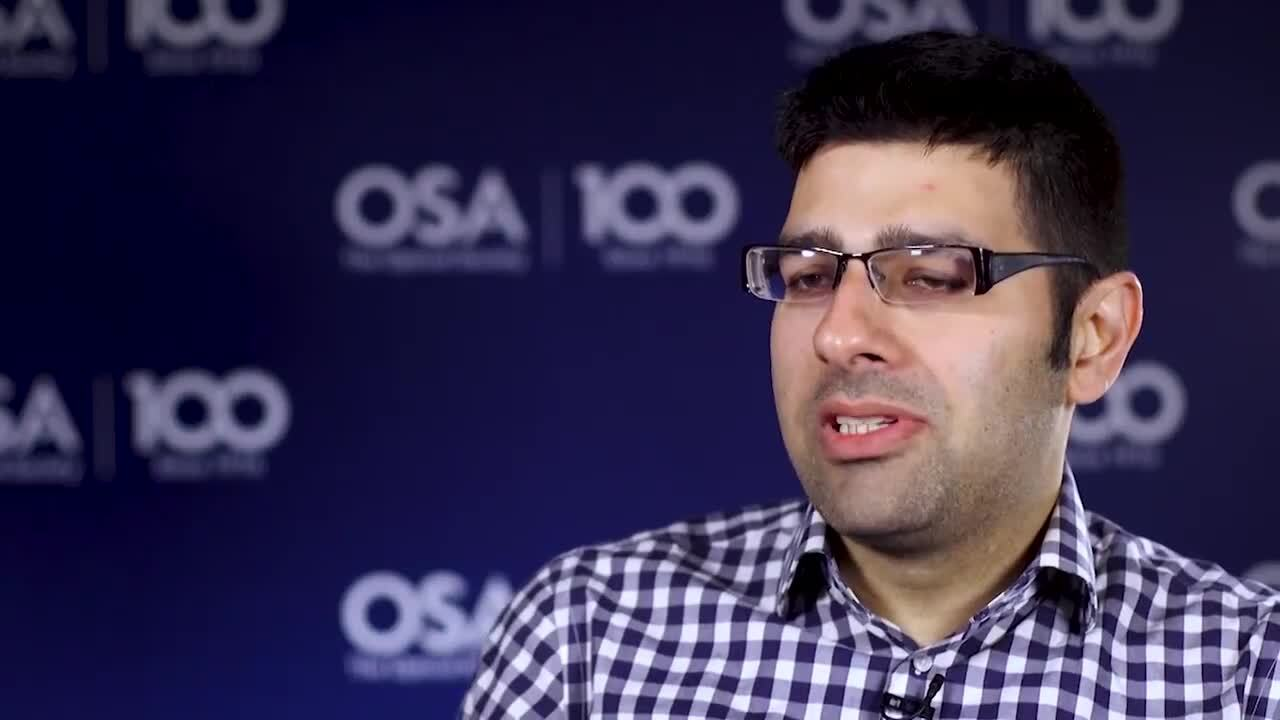 Milad Alemohammad shares how he decided to get into optics--OSA Stories