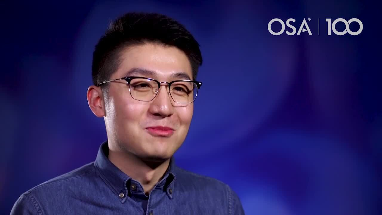 Shengjun Ren talks about his first experience attending OFC--OSA Stories