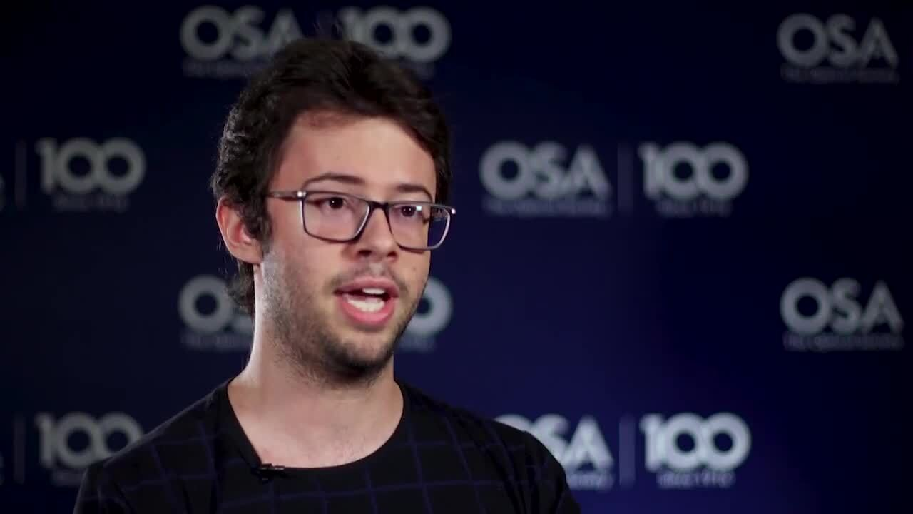 Israel Marques talks about his OSA Student Chapter--OSA Stories