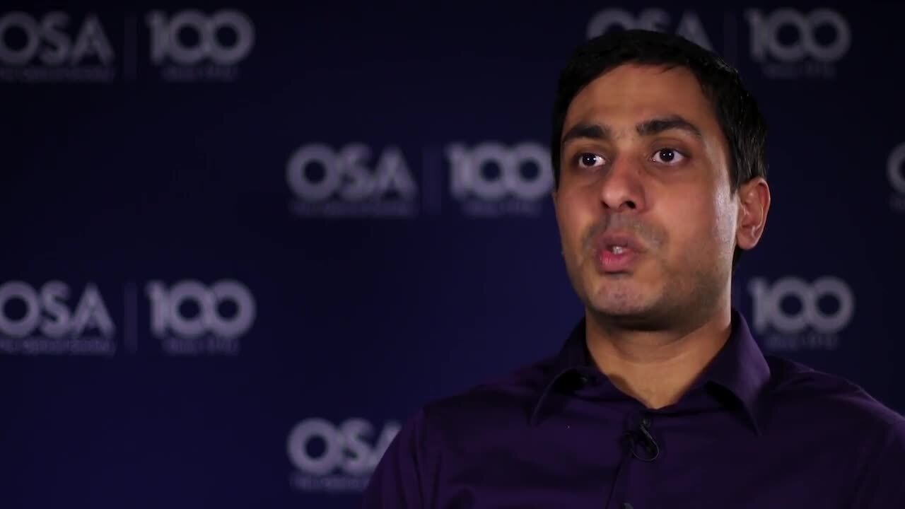 Aditya Malik was interested in light from a young age--OSA Stories