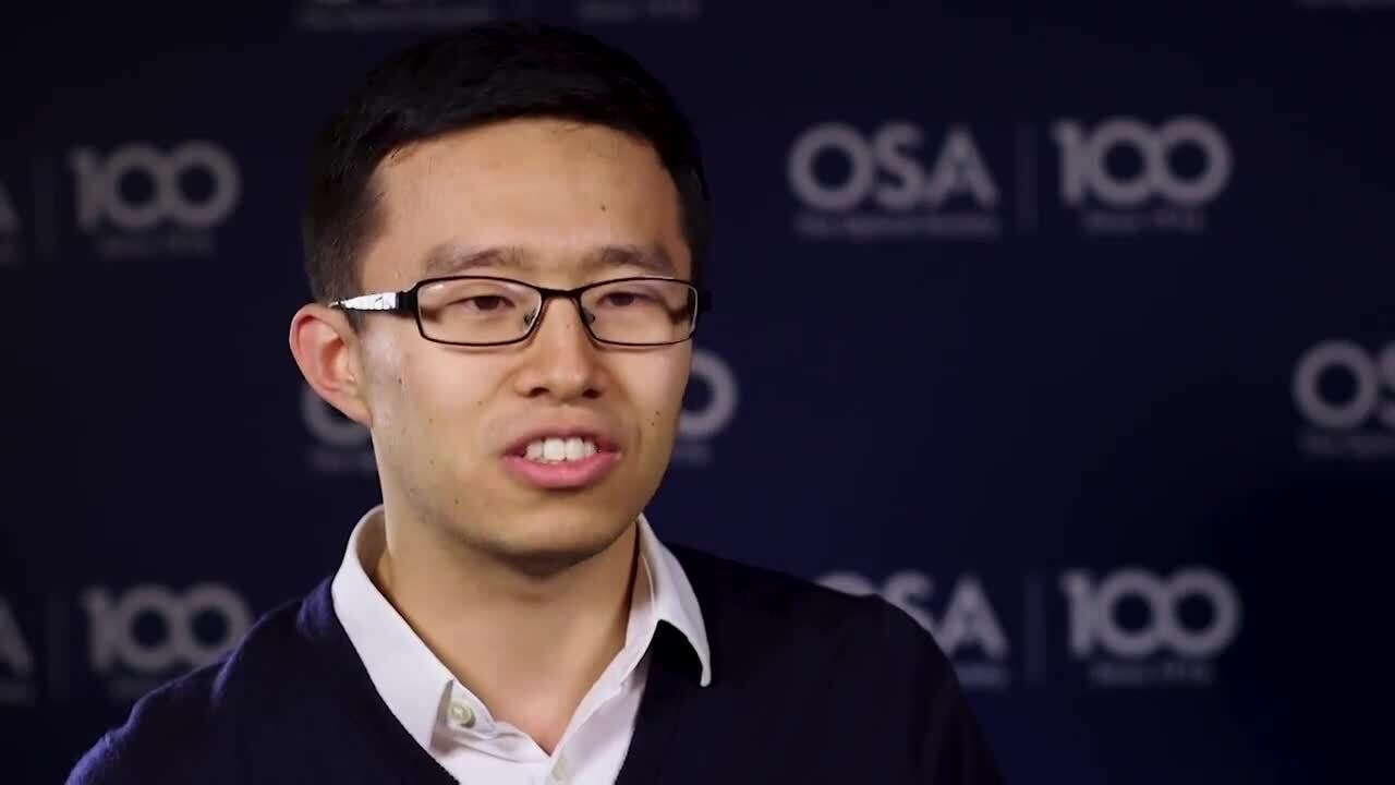 Bohao Liu describes the benefits of being mentored by other students--OSA Stories