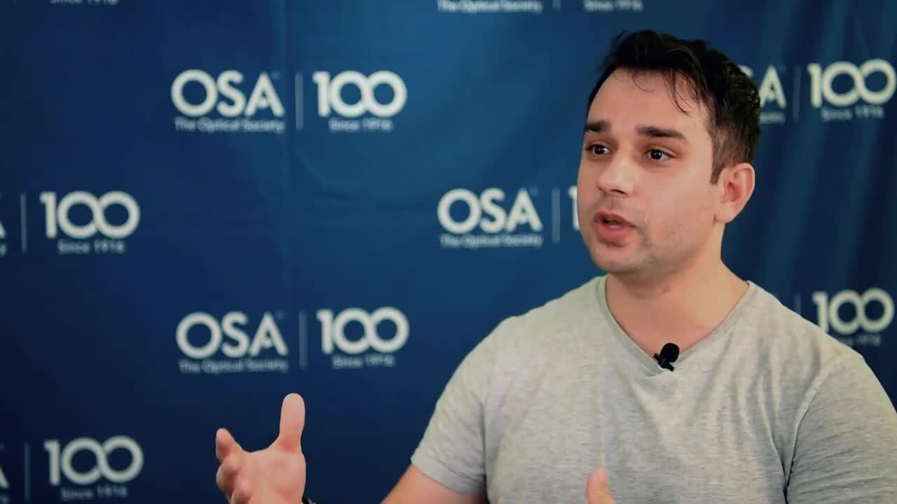 Milad Dakka reflects back on how he became interested in optics--OSA Stories