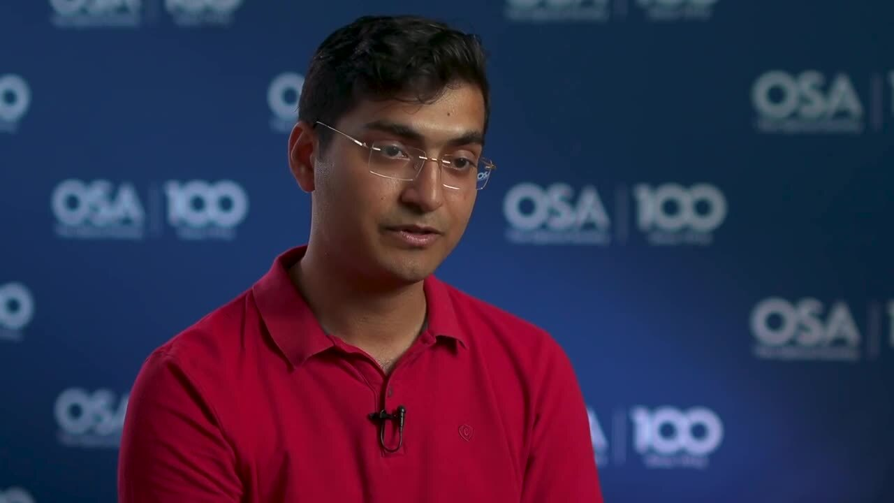 Muhammed Abdullah talks about his current research--OSA Stories