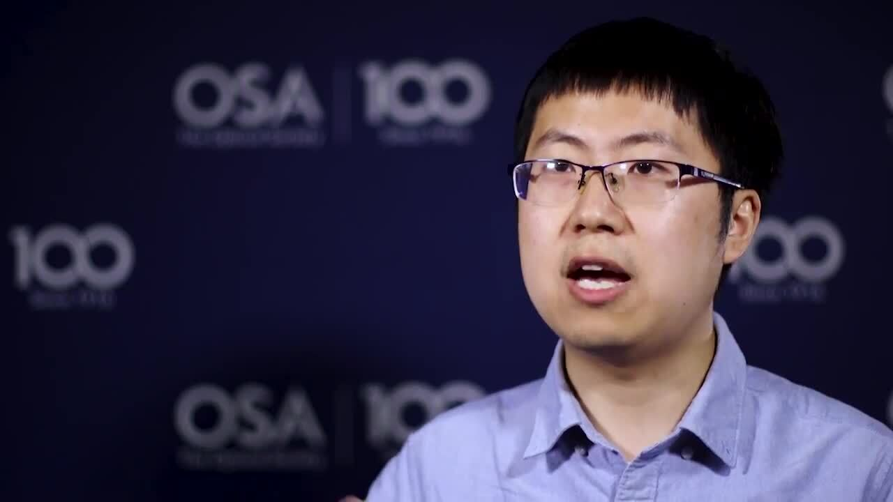 Wei Cui talks about the impact of being a finalist in the Student Grand Challenge--OSA Stories