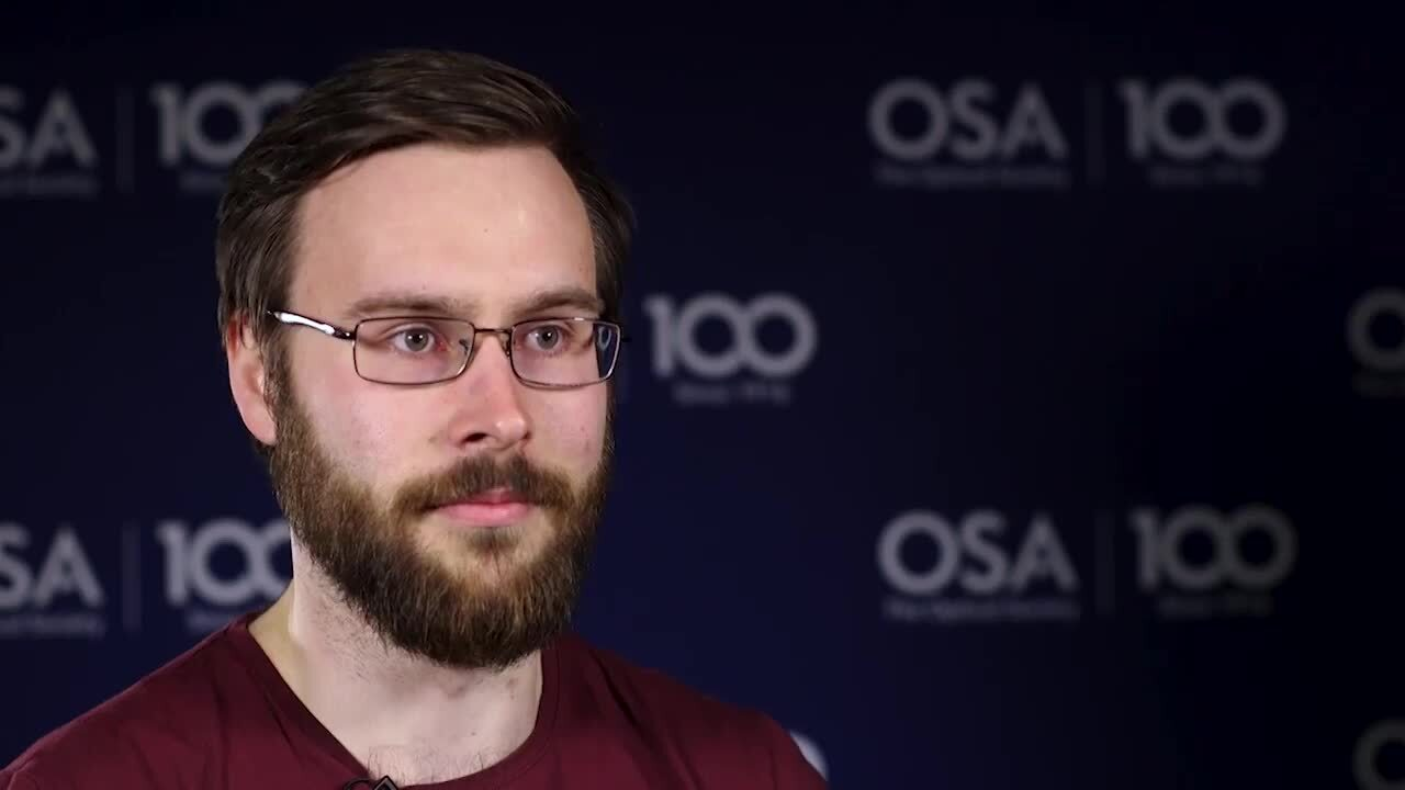 Benjamin Craig talks about the work his lab is doing--OSA Stories