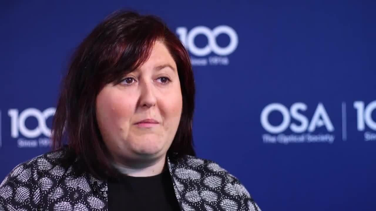 Maria Vinas Pena thanks her mentors--OSA Stories