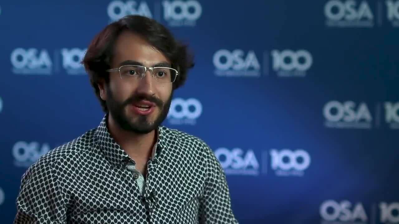 Joshua Silverstone shares how he chose his PhD topic--OSA Stories