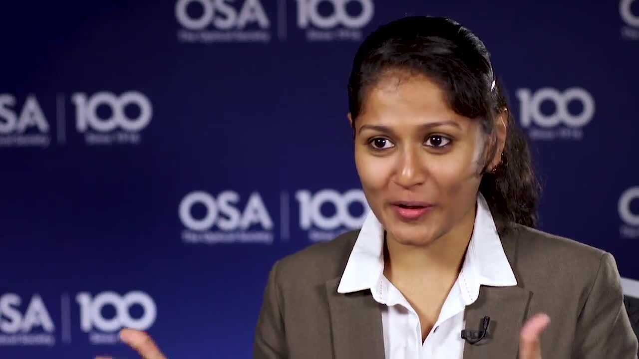 Roopa Prakash discusses her work in lasers--OSA Stories