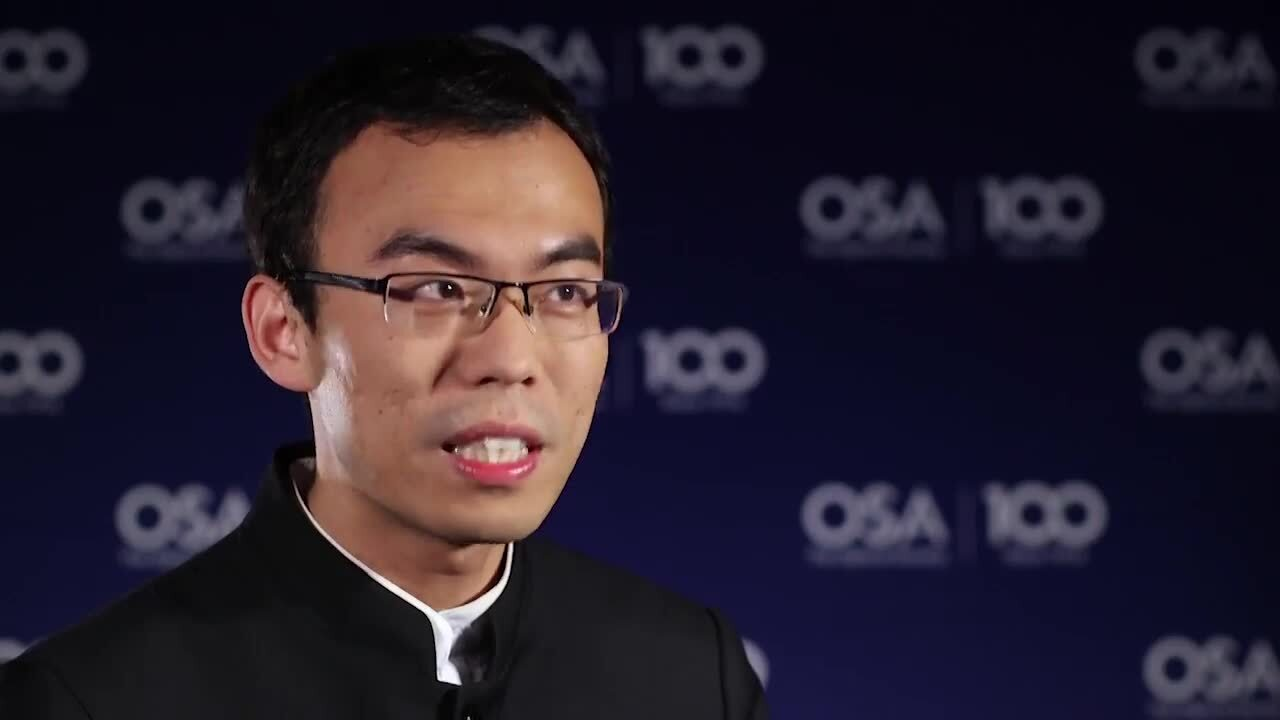 Yijie Shen shares how he became interested in optics--OSA Stories